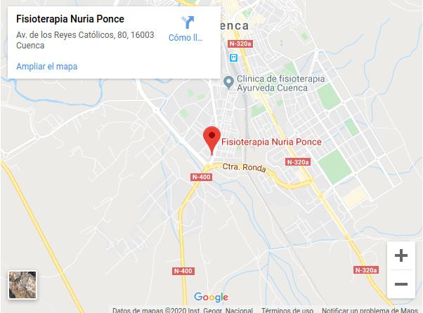 Clinica de fisio en Cuenca de Nuria Ponce
