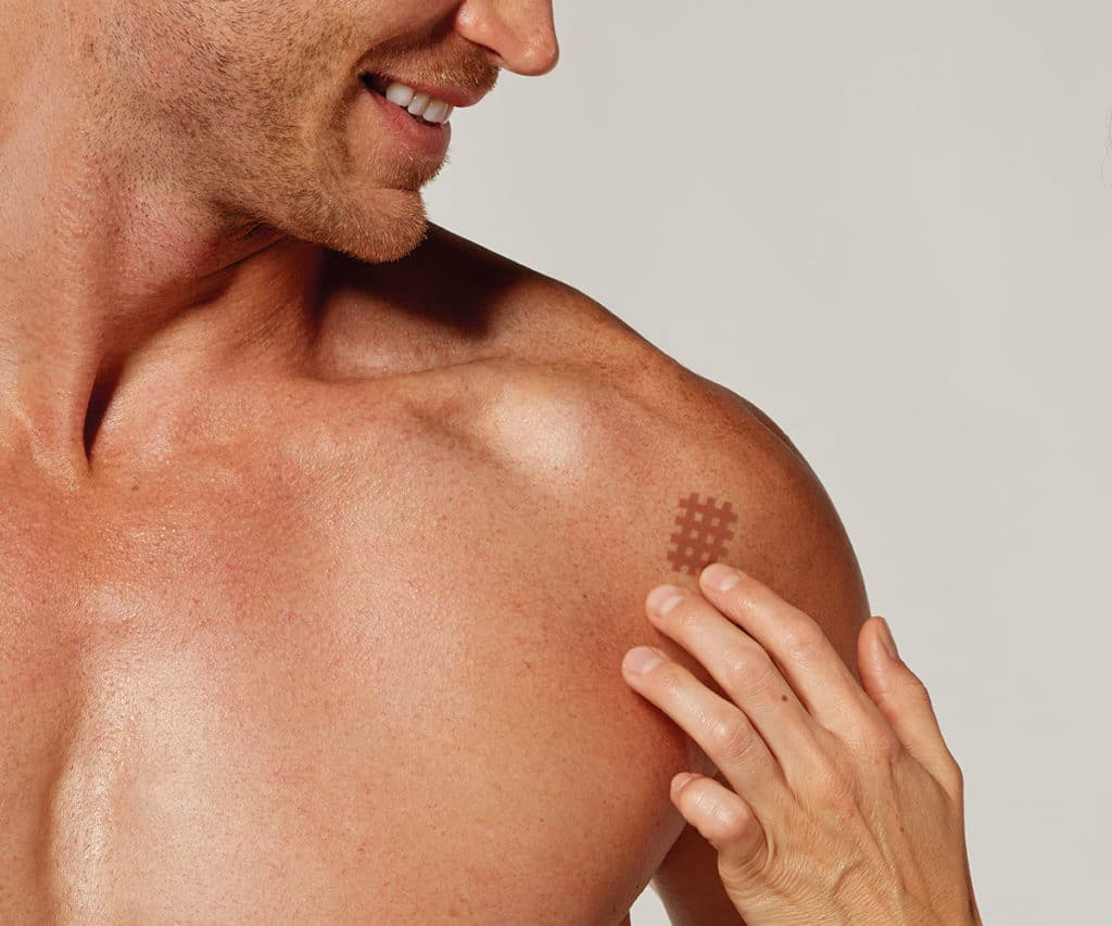 Cross Tape para dolores de hombro